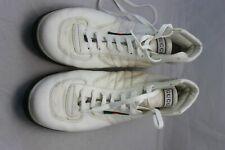 ff3e55cef Gucci men's White Leather Nylon High Top Lace-up Sneakers 12D