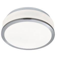 Searchlight 7039-23SS IP44 2 Light Flush Bathroom Fitting Satin Silver & Glass