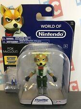 "Jakks Pacific Mario Star Fox World of Nintendo 4"" Wave 1-3 Fox McCloud Figure"