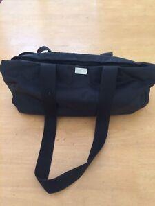Oroton Nappy Bag Black Nylon