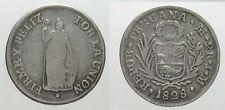 *TRIU* PERU 2 REALES 1828 in ARGENTO