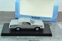 NEO 46980 Ford Thunderbird 1980 Car Silver 1/43 Scale