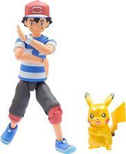 Takara Tomy Pokemon Monster Collection Ex Ash Ketchum & Pikachu Metallic Ver. Jp