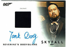 James Bond Archives Final Autograph Costume Card Tank Dong as Bodyguard #100/500