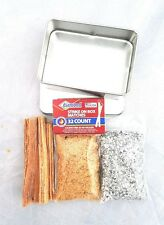 Fatwood Tinder Chips Dust Magnesium Matches in Tin Steve Kaeser Since 1989