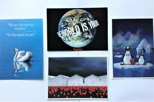Brand New!!4 Post Card Set KLM Airlines Unposted Boomerang Flight Cards