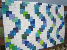 Handmade Batik Quilt, Modern Quilt, Cotton Quilt, Patchwork
