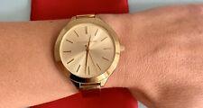 Super Zustand! Org. MICHAEL KORS Armband Uhr Damen Gold MK3275 NP 180€