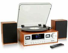 More details for record player hi-fi cd player dab+ bluetooth system colour screen denver mrd-105