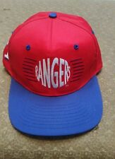 Texas Rangers baseball cap trucker hat Adjustable snapback Red cap w/ blue bill