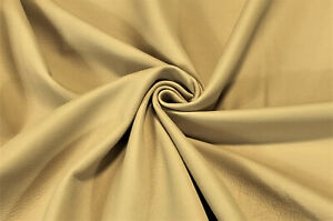 Leather Cowhide Beige Tan Smooth Automotive Avg 43 SqFt Upholstery Craft Hide
