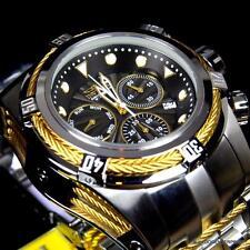 Invicta Bolt Zeus Black Two Tone Steel 53mm Swiss Z60 Chronograph Watch New