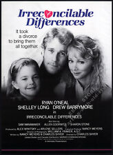 IRRECONCILABLE DIFFERENCES__Original 1983 Trade AD promo__poster__DREW BARRYMORE