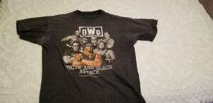nWo White & Black Attack T-Shirt XL Vintage WCW Hollywood Hogan Pro Wrestling