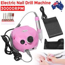 Electric Nail File Drill Set Manicure Pedicure Art Machine Acrylic Bits 30000RPM