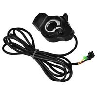 12V-99V Ebike Scooter Thumb Throttle with LCD Battery Voltage Display Black