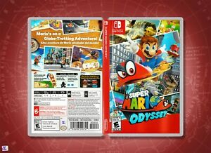 Super Mario Odyssey Replacement Cover Art Insert & Case, Nintendo Switch
