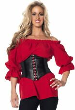 Renaissance Red Blouse XXL Medieval Costume Shirt Adult 2x Cosplay No Belt