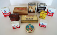 Vintage Food Tins Baker Cocoa Bofisco Codfish Box Mustard Teas Spices 11 Pc Lot