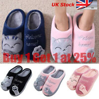 Lucky Cat Paw Cotton Unisex Slipper Warm Winter Soft Indoor Home Fleece Shoes HA