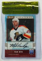 MIKE VAN RYN SIGNED BECKETT BAS AUTOGRAPHED NHL HOCKEY CARD UPPER DECK 2007