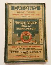 ORIGINAL 1947 MANITOBA TELEPHONE DIRECTORY Provincial Phone Book Eatons Ad 400p