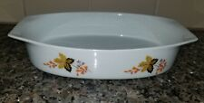 Vintage Leart Oven-to-Table Ware, Brazil, Autumn Leaves Oval Casserole Dish Htf