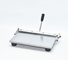Stainless Steel Manual Leather Folding Machine For Leather Wallet Handbag 300mm