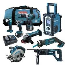 MAKITA LXT 18V 12tlg. Akku Werkzeug Set +DJR185 RM1J Reciprosäge +DHR241 RFE