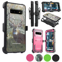 "for Samsung Galaxy S10 PLUS 6.4""Heavy Duty Armor Holster Belt Clip Defender Case"