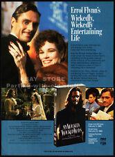 MY WICKED, WICKED WAYS__Orig. 1989 Trade print AD __ERROL FLYNN__DUNCAN REGEHR