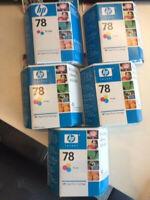 Genuine hp 78 Tri Color Ink Cartridge lot of 5