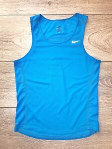 Nike Dri Fit Blue Tank Vest Men Size Small Gym Running Cross Fit