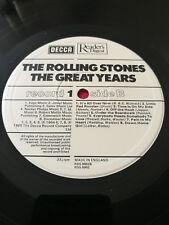 Rolling Stones Decca The Great Years MEGA RARE 4 UK vinyl box Readers Digest NM