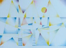 "Osvaldo Peruzzi 1907-2004 ""Composition""  HAND SIGNED Lithograph Italian Artist"