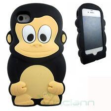 Custodia silicone SCIMMIA per iPhone 4 4s soft cover nuova simpatica protezione