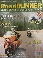 Road Runner Motorcycle Touring & Travel Magazine December 2012 BMW R1200 Honda