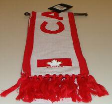 Team Canada 2014 Winter Olympics Sochi Hockey White Red Fan Wear Scarf Muffler