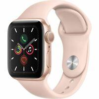 Apple Watch Series 5 GPS 40 mm Boîtier en Aluminium Or avec Bracelet Sport Rose