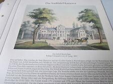 Hannover archivado 2 ciudad imagen s 96 castillo montbrillant J.F. Lange 1851