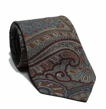 "Pure Wool Paisley Print Men Dress Tie Made in West Germany 3.25"" wide 58"" long"