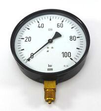 """WIKA Ø160mm Manometer 9051821 unten 0-100 bar G 1/2"""" A 212.20.160 NEU OVP"""