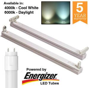 LED T8 2ft 4ft 5ft 6ft Einzel/Zwilling Leiste Fassung Befestigung mit/ohne