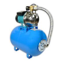 Wasserpumpe 1100W 60l/min 50 l Druckbehälter Gartenpumpe Hauswasserwerk Set TOP