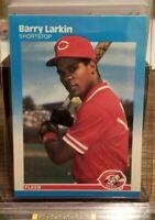 1987 Fleer RC Barry Larkin Rookie Card #204 Cincinnati Reds HOF Legend 🔥