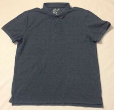 EUC Giordano Mens Short Sleeve Polo Tapered Fit Blue Shirt Size XL