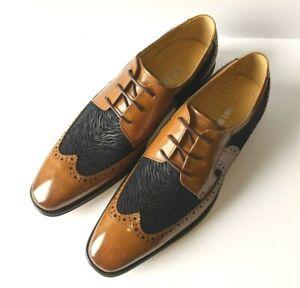 Stacy Adams Hollis Leather Wingtip Oxford Men's Size 11 M Brown Black MSRP $160