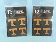 Tennessee Volunteers GLITTER TATTOOS New in Package!  by RICO  Set of 4 packages