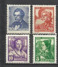 597-SUIZA 1935 HELVETIA COMPLETA 282/5 5,00€  JUVENTUTE