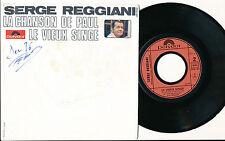 """SERGE REGGIANI 45 TOURS 7"""" FRANCE LA CHANSON DE PAUL (J. DASSIN)"""